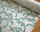 Screenprinted fabric - Bonsai Forest in Kelly Green (50cm)