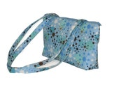 CLEARANCE The Zippered Basic Bag in Blue Atomic Retro CLEARANCE