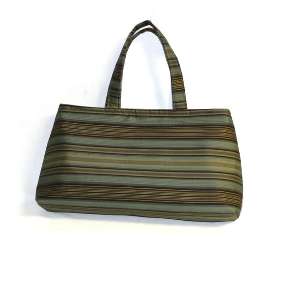 The Smaller Basic Bag in Aqua and Brown