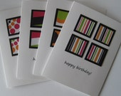 happy birthday\/clean and simple\/set of 4