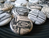 Vintage Mechanics Pinback Buttons OR Magnets - Assorted Set of 6