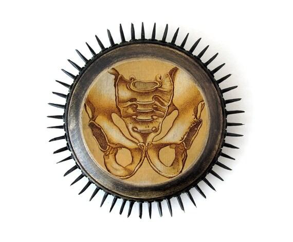Sushipot Prickly Plaque - PELVIS - Original Mixed Media Wall Art