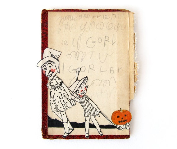 Trick-or-Treating - Halloween COLLAGE on Book Cover