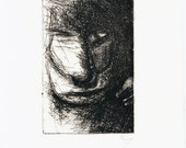 ORIGINAL and Unique Dry-point Etching - 'Untitled'