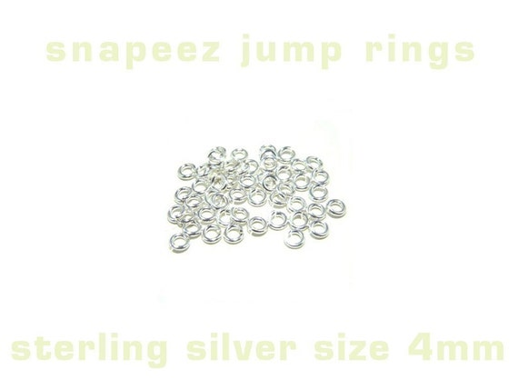 50 sterling silver snapeez open jump ring 4mm heavy gauge