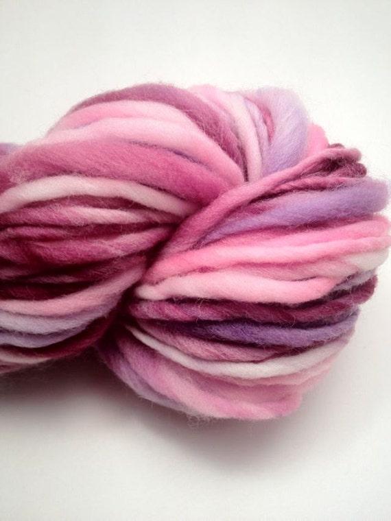 Hand Spun Thick and Thin Yarn -- Merino Wool -- 75 yards
