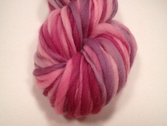 Hand Spun Thick and Thin Yarn -- Merino Wool
