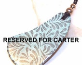 RESERVED FOR CARTER Iced Blue Freeform PaiseLeaves Pendant Necklace