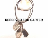 RESERVED FOR CARTER Asian Script Necklace