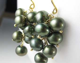 Green Bubble Earrings