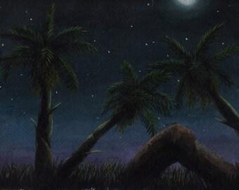 Midnight Palms - Original Painting