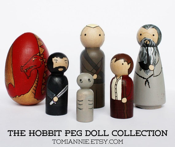 The Hobbit -- Hand-painted Peg Doll Collection ON SALE!