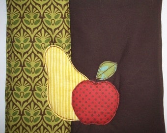 Kitchen Pot Holder, Apple and Pear