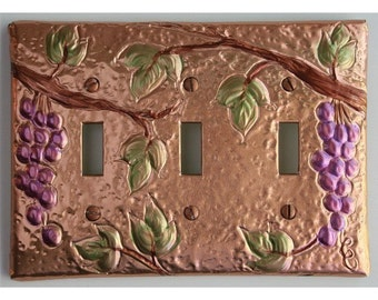 Tuscan Design Triple Switch Plate