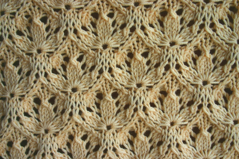 Starflower Estonian Lace Baby Blanket Pattern by KnitzandGlitz