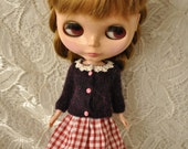 Cute cardigan for Dolls-purple