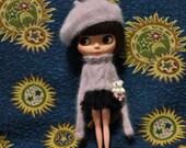Babydoll Longhair Angola Wool Beret for Blythe Doll
