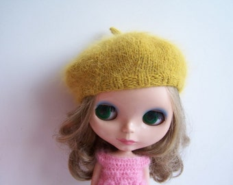 Longhair Angola Wool Beret for Blythe Doll
