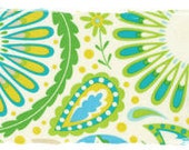 CLEARANCE SALE Sanjay Floral Green and Blue Moda Fabric by the yard