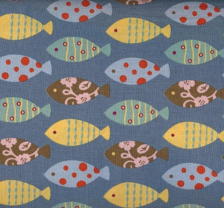 Moda Odyssea Fish Fabric By The Yard Last Yard