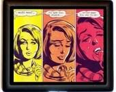 Romance Comic Book Panel Cigarette Case Retro Pop Art Business Card Case Wallet Andy Warhol Pop Art