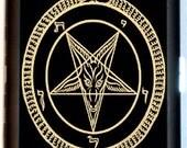 Satanic Pentagram Cigarette Case Business Card Case Wallet Satanism Occult Devil Worshiping Lucifer Satan Satanic Baphomet