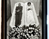 Post Mortem Couple Cigarette Case or Business Card Case Coffins Till Death Do We Part Extreme Gothic Creepy Dead Couple