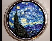 Starry Night Pill Box Pillbox Case Holder for Vitamins Drugs Birth Control Vincent Van Gogh Fine Art Medicine Organizer Trinket Box