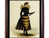 Victorian Bee Woman Cigarette Case Anthropomorphic Whimsical Fantasy Costume Insect Halloween ID Business Card Credit Card Holder Wallet