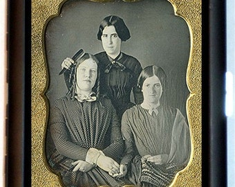 Daguerreotype 3 Sisters Cigarette Case Business Card Case Wallet or MP3 Holder