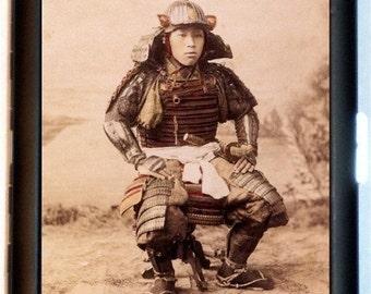 Japanese Samurai Cigarette Case Japan Asian Art Warrior 1900's Bushido ID Business Card Credit Card Holder Wallet