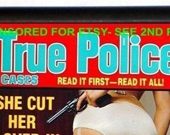 True Crime Cigarette Case Detective Magazine Sleaze Scandals Pulp Police Bad Girl Kitsch ID Business Card Credit Card Holder Wallet