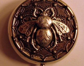 Victorian Steampunk Surreal Kafka THE HOUSE FLY Pill Case Or Trinket Box
