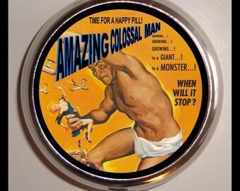 Amazing Colossal Man Kitsch Pill Box Pill Case