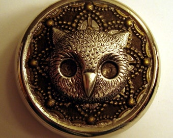 Victorian Steampunk THE BOSS OWL Pill Case Or Trinket Box