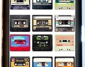 Cassette Tape Cigarette Case Audio Tapes Collage 1980's Retro Kitsch Technology Punk Rock ID Business Card Credit Card Holder Wallet