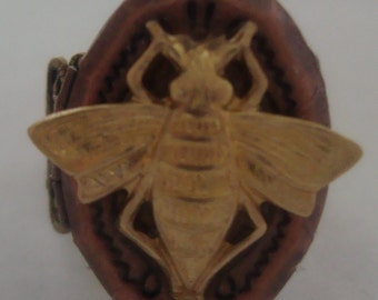 Victorian Steampunk Bee Mine Oval Locket Ring by Sweetheartsinner
