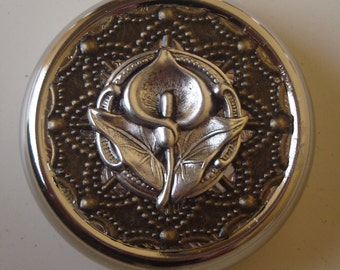 Victorian Goth Edwardian Art Nouveau Lily of the Field Calla Lily Pill Case Or Trinket Box