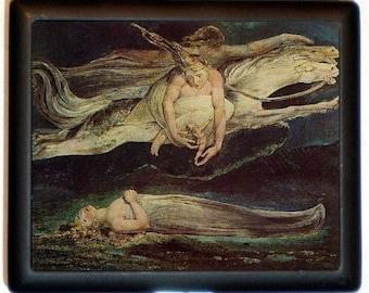 William Blake Cigarette Case Angel of Death Spirituality Metaphysical Poet Artist Romantic ID Business Card Credit Card Holder Wallet
