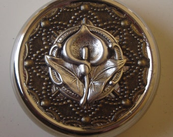 Victorian Steampunk Lily of the Fields Calla Lily Pill Case Or Trinket Box
