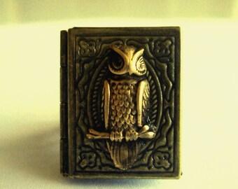 Victorian Steampunk MY SECRET OWL Book Locket Ring