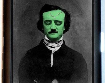 Edgar Allan Poe Zombie Cigarette Case Business Card Case Wallet