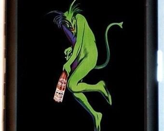 Absinthe Green Devil Cigarette Case French Art Nouveau Maurin Poster Artwork Alcohol Bar Art ID Business Card Credit Card Holder Wallet