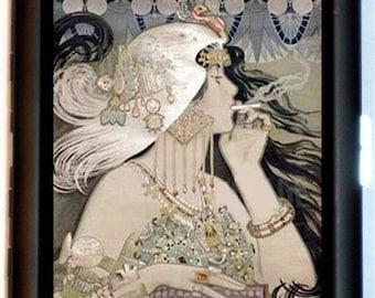Manuel Orazi Cigarette Case Papier Job Art Nouveau Edwardian Deco Vintage Beauty ID Business Card Credit Card Holder Wallet