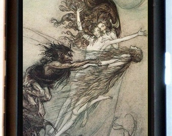 Arthur Rackham Cigarette Case Goth Banshee Fairy Tale Storybook Fairytale Children's Story ID Business Card Credit Card Holder Wallet