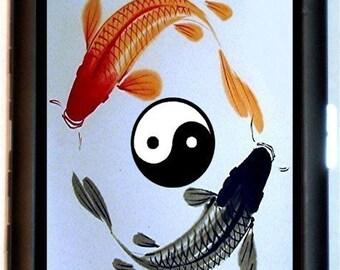 Koi Fish Yin & Yang Cigarette Case Business Card Case Money Holder Wallet Goldfish