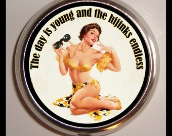 Day is Young Hijinks Endless Pinup Pill box Pillbox Case Holder Sweetheartsinner NEW