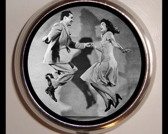 Dancing Couple Dancers Pill box Pillbox Case Holder Trinket Box Sweetheartsinner New Retro Kitsch