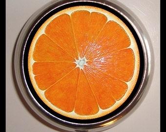 Orange Fruit Slice Pop Art Pill box Pillbox Case Holder Trinket Box Sweetheartsinner NEW