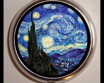 Starry Night Pill Box Pillbox Case Holder for Vitamins Drugs Birth Control Vincent Van Gogh Fine Art Medicine Organizer Trinket Box